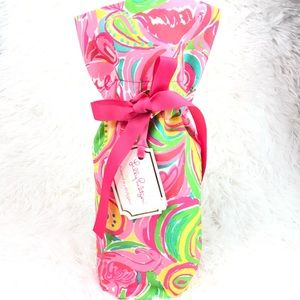 LILLY PULITZER Wine Tote Bag NWT